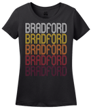 Ladies Black Bradford, PA | Retro, Vintage Style Pennsylvania Pride  T-shirt