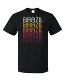 Standard Black Brazil, IN | Retro, Vintage Style Indiana Pride  T-shirt