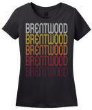 Ladies Black Brentwood, MD | Retro, Vintage Style Maryland Pride  T-shirt