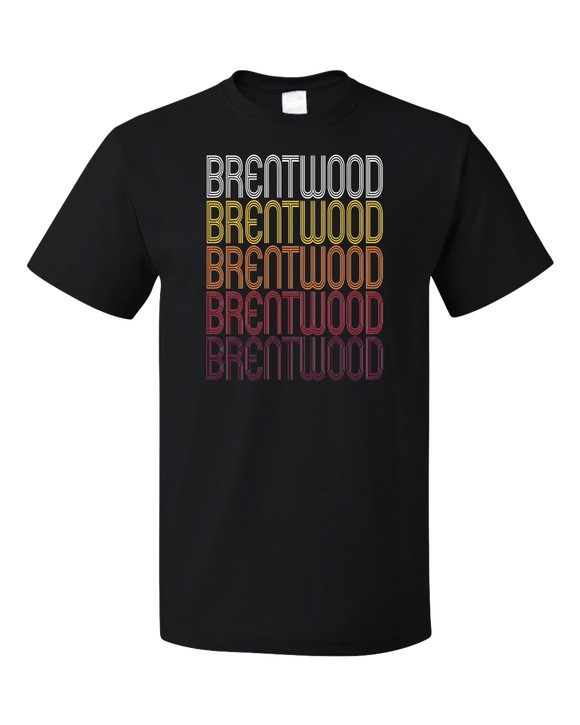 Standard Black Brentwood, MD | Retro, Vintage Style Maryland Pride  T-shirt