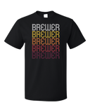 Standard Black Brewer, ME | Retro, Vintage Style Maine Pride  T-shirt