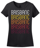 Ladies Black Brisbane, CA | Retro, Vintage Style California Pride  T-shirt