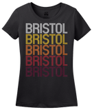 Ladies Black Bristol, TN | Retro, Vintage Style Tennessee Pride  T-shirt