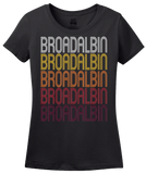 Ladies Black Broadalbin, NY | Retro, Vintage Style New York Pride  T-shirt