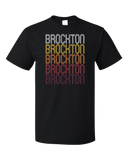 Standard Black Brockton, MA | Retro, Vintage Style Massachusetts Pride  T-shirt