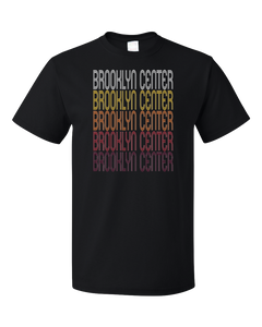 Standard Black Brooklyn Center, MN | Retro, Vintage Style Minnesota Pride  T-shirt