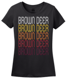 Ladies Black Brown Deer, WI | Retro, Vintage Style Wisconsin Pride  T-shirt