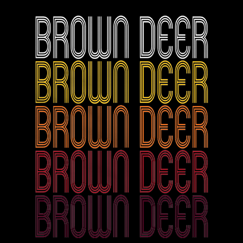 Brown Deer, WI | Retro, Vintage Style Wisconsin Pride