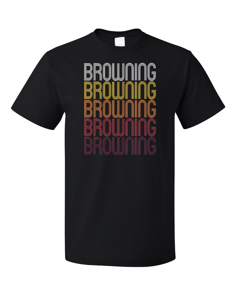 Standard Black Browning, MT | Retro, Vintage Style Montana Pride  T-shirt