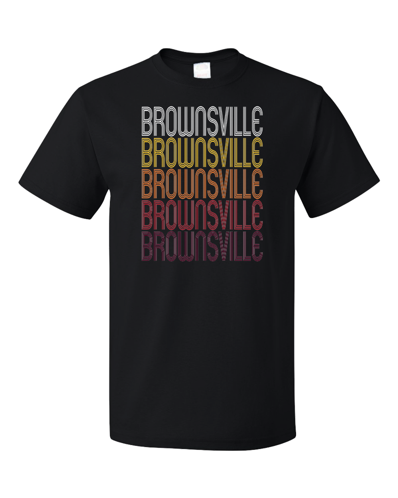 Standard Black Brownsville, PA | Retro, Vintage Style Pennsylvania Pride  T-shirt