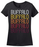 Ladies Black Buffalo, MO | Retro, Vintage Style Missouri Pride  T-shirt