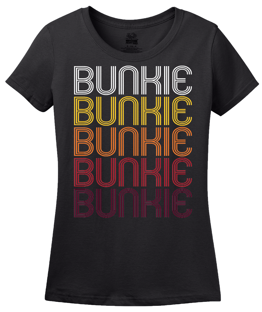 Ladies Black Bunkie, LA | Retro, Vintage Style Louisiana Pride  T-shirt