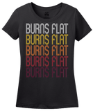 Ladies Black Burns Flat, OK | Retro, Vintage Style Oklahoma Pride  T-shirt
