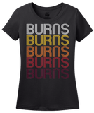 Ladies Black Burns, TN | Retro, Vintage Style Tennessee Pride  T-shirt