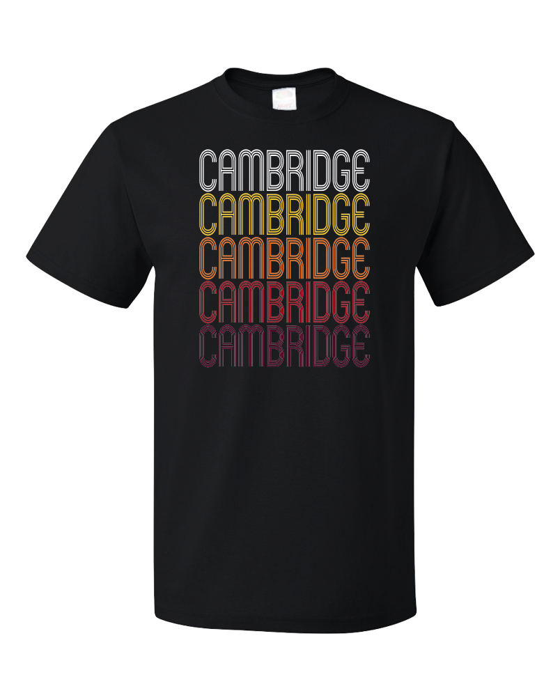 Standard Black Cambridge, MD | Retro, Vintage Style Maryland Pride  T-shirt