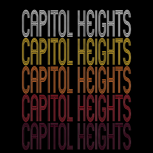 Capitol Heights, MD | Retro, Vintage Style Maryland Pride