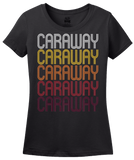 Ladies Black Caraway, AR | Retro, Vintage Style Arkansas Pride  T-shirt