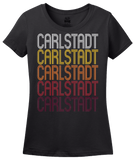 Ladies Black Carlstadt, NJ | Retro, Vintage Style New Jersey Pride  T-shirt