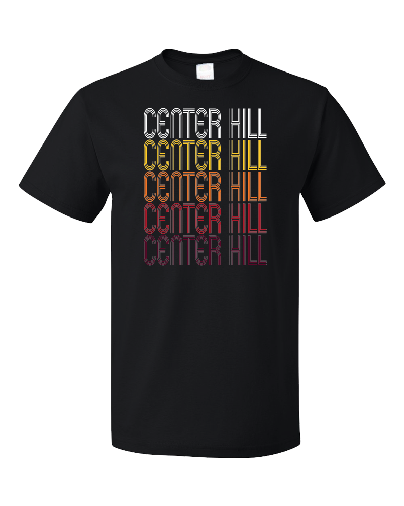 Standard Black Center Hill, FL | Retro, Vintage Style Florida Pride  T-shirt
