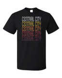Standard Black Central City, PA | Retro, Vintage Style Pennsylvania Pride  T-shirt