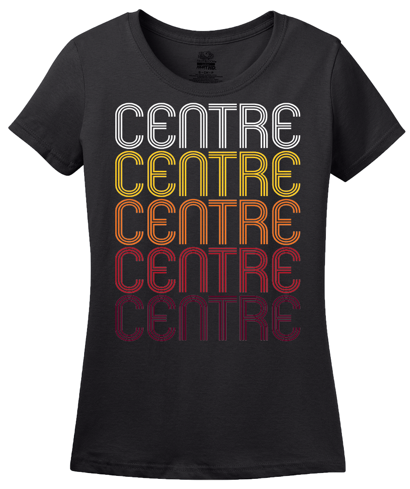Ladies Black Centre, AL | Retro, Vintage Style Alabama Pride  T-shirt