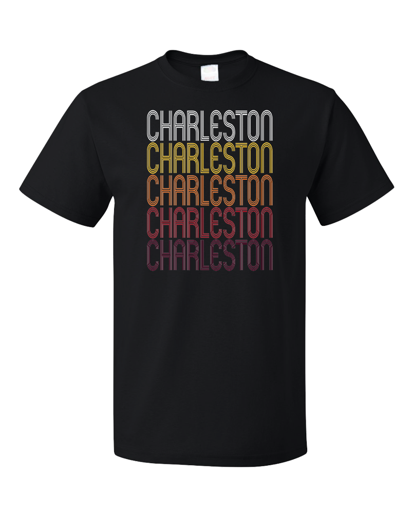 Standard Black Charleston, AR | Retro, Vintage Style Arkansas Pride  T-shirt