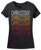 Ladies Black Charlestown, IN | Retro, Vintage Style Indiana Pride  T-shirt