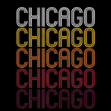 Chicago, IL | Retro, Vintage Style Illinois Pride