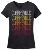 Ladies Black Clarksville, VA | Retro, Vintage Style Virginia Pride  T-shirt
