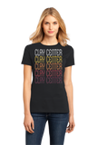 Ladies Black Clay Center, KS | Retro, Vintage Style Kansas Pride  T-shirt