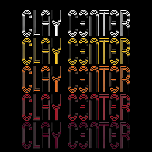Clay Center, KS | Retro, Vintage Style Kansas Pride