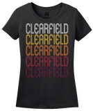 Ladies Black Clearfield, UT | Retro, Vintage Style Utah Pride  T-shirt