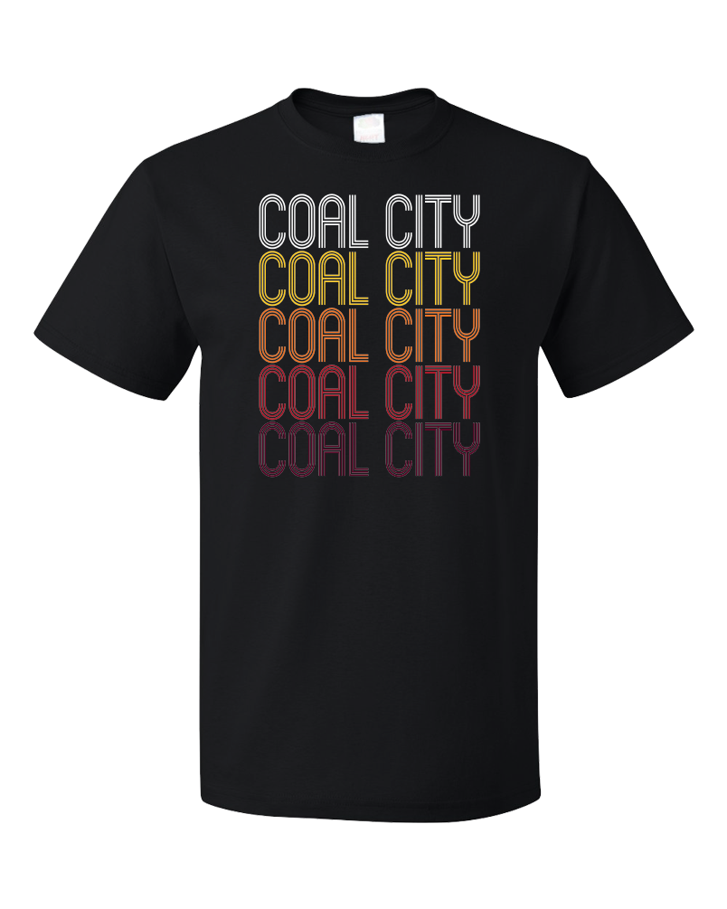 Standard Black Coal City, IL | Retro, Vintage Style Illinois Pride  T-shirt
