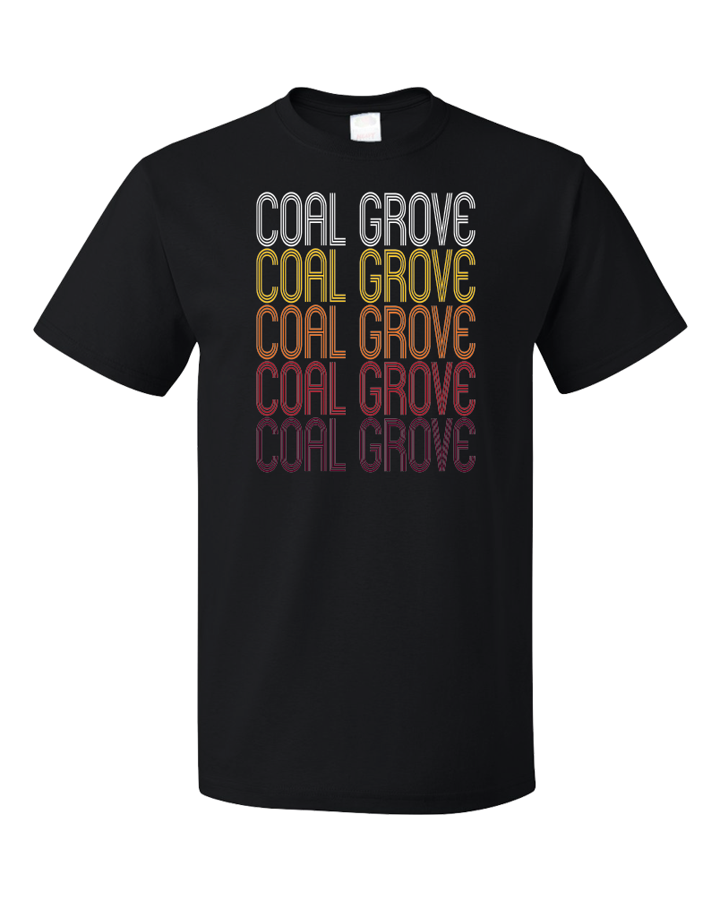 Standard Black Coal Grove, OH | Retro, Vintage Style Ohio Pride  T-shirt