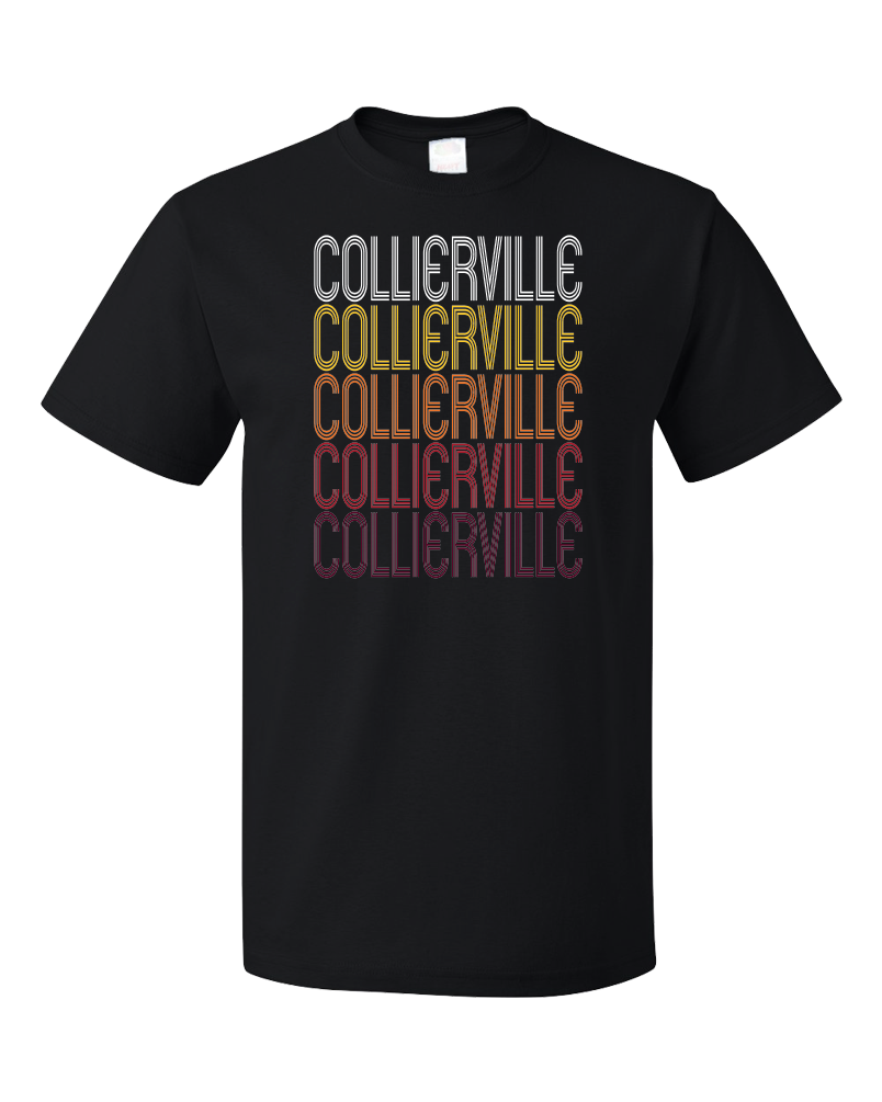 Standard Black Collierville, TN | Retro, Vintage Style Tennessee Pride  T-shirt
