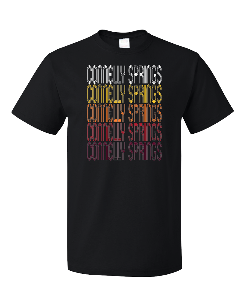 Standard Black Connelly Springs, NC | Retro, Vintage Style North Carolina Pride  T-shirt