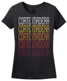 Ladies Black Corte Madera, CA | Retro, Vintage Style California Pride  T-shirt