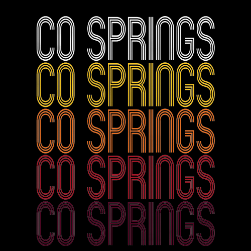 Co Springs, CO | Retro, Vintage Style Colorado Pride