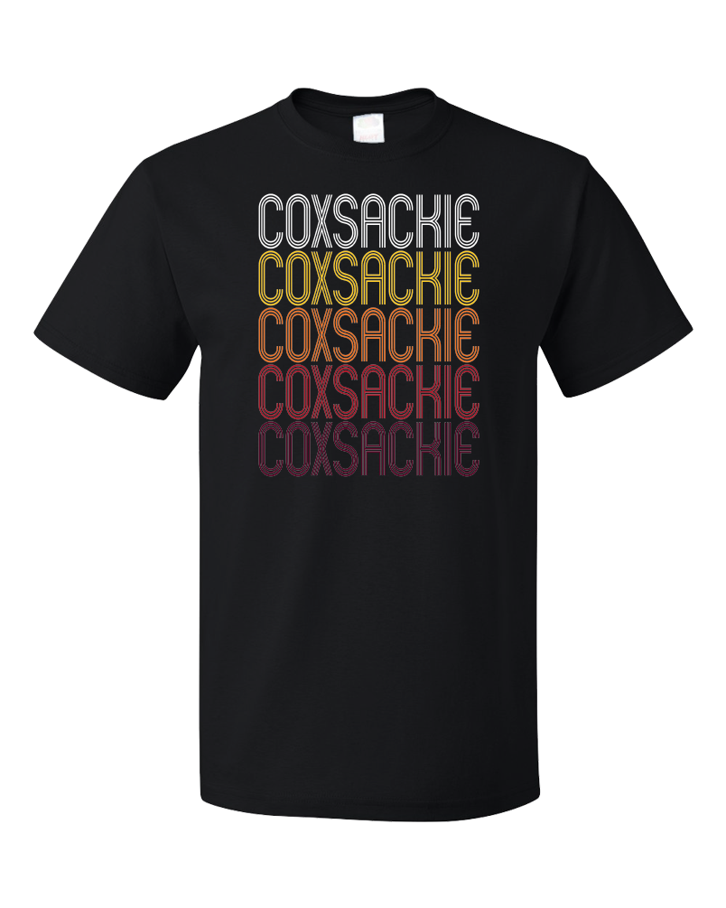 Standard Black Coxsackie, NY | Retro, Vintage Style New York Pride  T-shirt