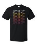 Standard Black Crystal City, TX | Retro, Vintage Style Texas Pride  T-shirt