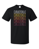 Standard Black Curwensville, PA | Retro, Vintage Style Pennsylvania Pride  T-shirt