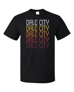 Standard Black Dale City, VA | Retro, Vintage Style Virginia Pride  T-shirt