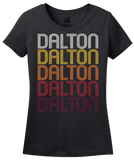 Ladies Black Dalton, GA | Retro, Vintage Style Georgia Pride  T-shirt