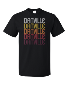 Standard Black Danville, IN | Retro, Vintage Style Indiana Pride  T-shirt