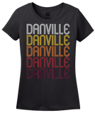 Ladies Black Danville, PA | Retro, Vintage Style Pennsylvania Pride  T-shirt
