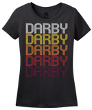 Ladies Black Darby, PA | Retro, Vintage Style Pennsylvania Pride  T-shirt
