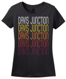 Ladies Black Davis Junction, IL | Retro, Vintage Style Illinois Pride  T-shirt