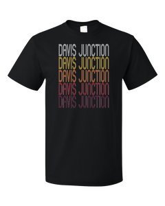 Standard Black Davis Junction, IL | Retro, Vintage Style Illinois Pride  T-shirt