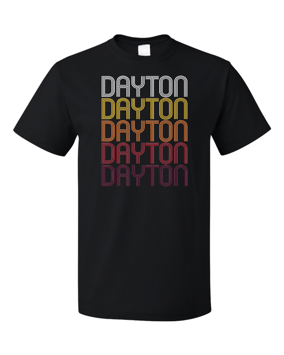 Standard Black Dayton, IN | Retro, Vintage Style Indiana Pride  T-shirt