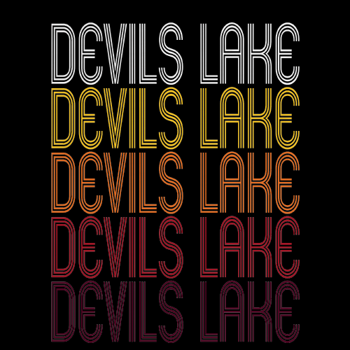 Devils Lake, ND | Retro, Vintage Style North Dakota Pride